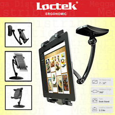 Loctek 2 in 1 Universal Tablet/iPad Desk Stand + Wall Swing Arm Mount Bracket