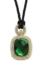 "Park Lane ""CELINE"" NECKLACE - Orig. $139 - Swarovski & GREEN - Holidays - NICE!"