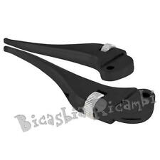 4208 - PAIR LEVERS SIP BLACK TIP ADJUSTABLE VESPA 160 GS 180 200 SS RALLY