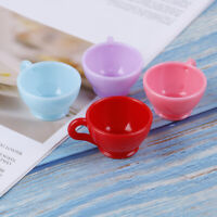 3Pcs 1:12 Dollhouse miniature round coffee cups tableware doll kitchen toysJ JSE