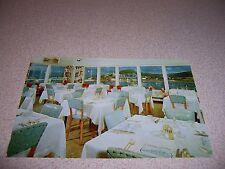1950s DINING ROOM at BAKER MOTEL GASPE QUEBEC VTG POSTCARD