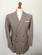 Vintage Mens Bespoke Cavalry Twill Jacket Trousers suit Size 38 NOS
