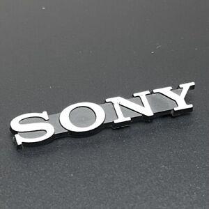 Vintage Sony Badge Nameplate Logo Emblem Electronics TV Speaker VCR Radio