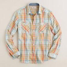 J. CREW Wallace BARNES Shirt SMALL Mens PLAID Multicolor SIZE 54218 Sz FLANNEL**