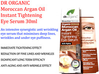 DR ORGANIC Moroccan Argan Oil Instant Tightening Eye Serum 30ml ( Anti-aging )