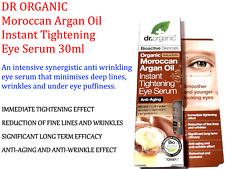 3x Dr Organic Moroccan Argan Oil Instant Tightening Anti-aging Eye Serum 30ml