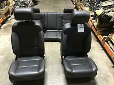 GMC SIERRA 1500 Complete Seat Set w/ Front Console; Black Carbon Leather *Note*