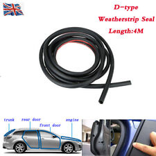 4M DIY D-Type Car Truck Door Window Rubber Hollow Strip Sealing Weatherstrip