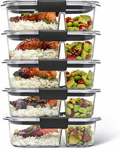 Rubbermaid Brilliance Meal Prep Containers 5-Pack
