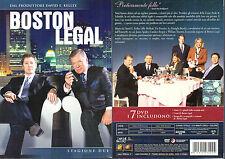 BOSTON LEGAL - STAGIONE 2 (DUE) - BOX 7 DVD (NUOVO SIGILLATO)