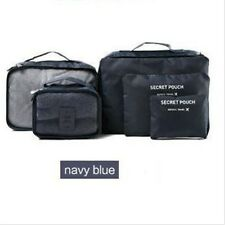 6Pcs Waterproof Clothes Storage Bags Picking Travel Luggage Organizer Pouch Navy