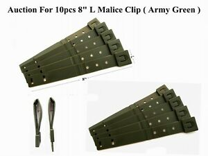 """10 Tactical Tailor-Short 8"""" Army Green MALICE Clips For GERBER, BUCK Knife Pouch"""