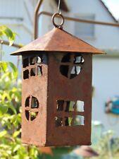 Turm Haus zum Aufhängen Edelrost Rost rostig Metall Gartendeko Vintage