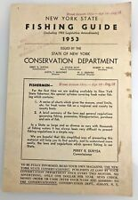 1953 New York State Conservation Department Fishing Guide