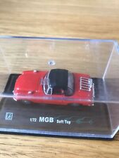 Cararama Red MGB Soft Top Convertible  Cabriolet model car 1:72 Scale