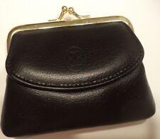 Buxton Leather Change Purse, Black