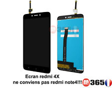 "VITRE TACTILE + LCD Xiaomi Redmi 4X noir 5"" Ecran complet Redmi 4X (pas note4x!)"