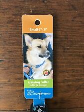 RC Pet Products Small Training Collar Martingale Style Nylon And Chain Blue Paw