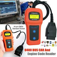 OBDII CAN Car Diagnostic Auto Scanner Tool U480 OBD2 Engine Fault Code Reader