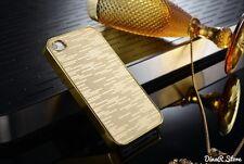 HandyHülle für Apple iPhone 5S 5 Tasche Bling Case Cover - Gold (114GO)