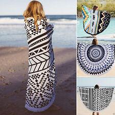 Bohemian Mandala Round Beach Tapestry Picnic Throw Yoga Mat Towel Blanket Pool
