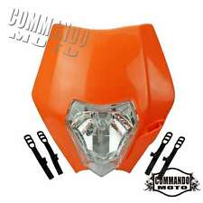 Orange Dirtbike Headlight Head Light Lamp Fairing Enduro Cross For KTM 250 80-15