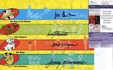 JOE BARBERA JERRY EISENBERG BOB SINGER SIGNED PHOTO AUTOGRAPH JSA AUTHENTICATED