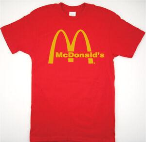 McDonalds Retro logo T Shirt authentic fast food burger big mac mccafe mcnuggets