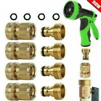 3/4' Garden Hose Quick Connect Water Hose Fit Brass Female Male Connector Set .