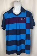 NIKE Men's Large Collared T-Shirt Dri-Fit Soccer Jersey