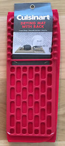 """NEW Cuisinart Red Dish Quick Drying Kitchen Mat w/ Rack Compact Design 16"""" X 18"""""""