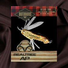 Realtree Camo Deluxe 10 Multi-Tool Stainless Boy Scout Knife NIB