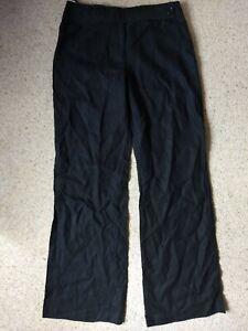 Next Black Pure Linen Trousers 12L