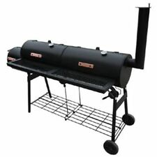 Black Smoker BBQ Barbecue Cooker Nevada XL w/Double Grill Boxes Outdoor Cooking