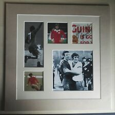 GEORGE BEST MANCHESTER UNITED NORTHERN IRELAND SIGNED DISPLAY MOUNT 14 x 14