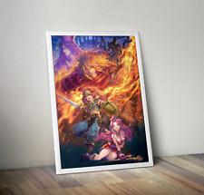 Seiken Densetsu 3 Trials of Mana Duran Angela Promotional Art Poster 18x24