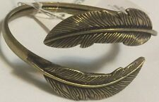 AMERICAN EAGLE OUTFITTERS ANTIQUE BRASS LEAVE CUFF BRACELET