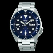 NEW Seiko 5 Sports 100M Automatic Men's Watch Blue Bezel Dial