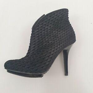 Schutz Black Corrugated Boots Sz 37