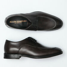 Allen Edmonds Crosby Street Carbon Leather Split Toe Derby Oxfords - Men's 10 D