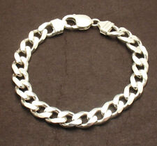 """8"""" Mens Italian Bold Solid Miami Cuban Link Chain Bracelet Real Sterling Silver"""