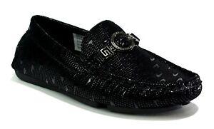 Boys Black Loafer Slip On Shoes Jazz
