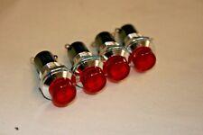 4 PACK Red Lamp Holder for T1-3/4 Midget Screw Base, E5 (101-538)