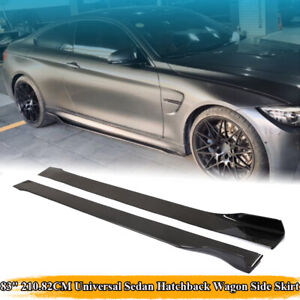 """Real Carbon Fiber Side Skirts Panel Extension Spoiler Add-On Universal 78.7"""""""