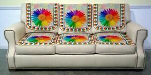 Velvet Digital Print 3 Seater Sofa Covers Set for Multi Color in 2pcs