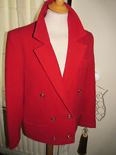 90s vintage cashmere red double breasted military cheryl short jacket 12 14