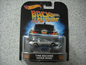 HOT WHEELS ENTERTAINMENT SET BACK TO THE FUTURE TIME MACHINE DELOREAN HOVER MODE