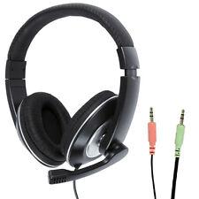 3.5 mm STEREO CHIUSE CUFFIE & Microfono Mic-Controllo Volume-VoIP Skype Gioco