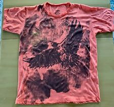 TIME RGNL Mens Orange Eagle Art T Shirt Tee Medium M EUC