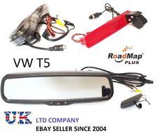 volkswagen t5 rear reversing camera brake light  4.3 inch mirror monitor